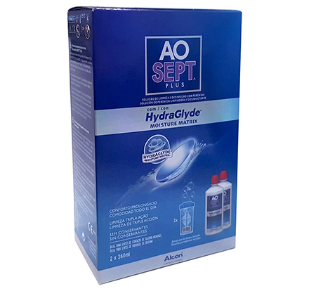 AOSept Plus con HydraGlyde 2x360ml